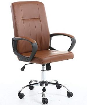 HXSD Simple Home Office Computer Chair Can Be Flattened 135 Degrees Office Swivel Chair Color Brown 0 300x360