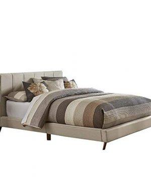Hillsdale Furniture Aussie Upholstered Platform Bed King Fog 0 300x360
