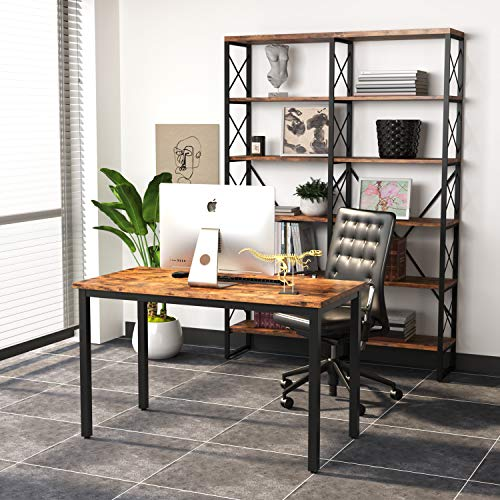 """IRONCK Computer Desk, 47"""" Office Desk with 0.7"""" Thicker ..."""