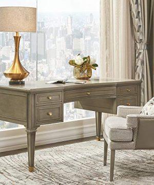 Jennifer Taylor Home Troy 5 Drawer Wood Desk Grey Cashmere 0 300x360