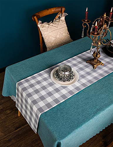 LONG WAY 100 Cotton Dining Table Runner 13 By 72 InchesBuffalo Check Table Runner Machine Washable Everyday Table Dcor Middle Grey Plaid 0 5