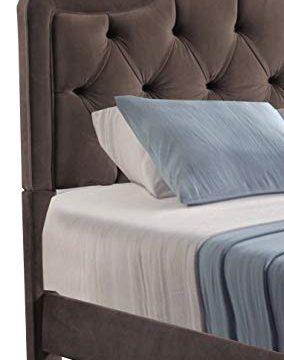 Leffler Home Night Party Chocolate Allure Diamond Tufted Bed Queen Dark Brown 0 1 284x360