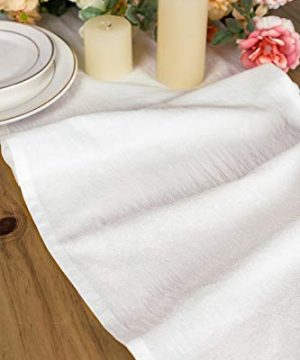 Letjolt White Table Runner Cotton Table Runner Ruffle Rustic Fabric Decor Wedding Baby Shower Home Kitchen Birthday Party White 12x72 Inches 0 0 300x360