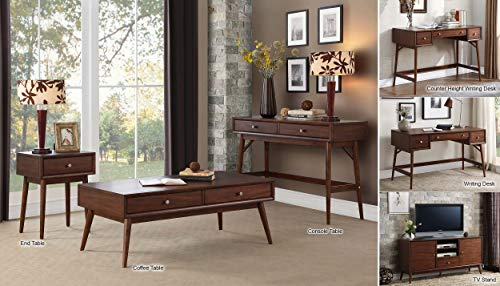 Lexicon Janvier 52 X 16 Counter Height Writing Desk Brown 0 3