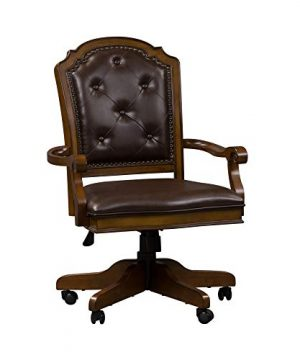Liberty Furniture Industries Amelia Jr Executive Office Chair W26 X D27 X H42 Medium Brown 0 300x360