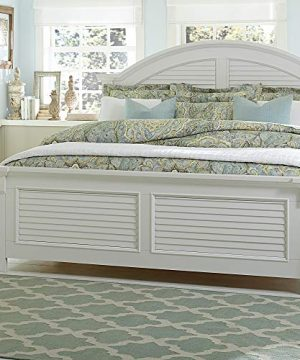 Liberty Furniture Industries Summer House I Queen Panel Bed Oyster White 0 300x360