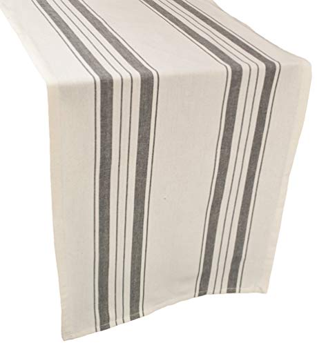 Linens Art And Things Cotton Table Runner Dresser Scarf Coffee Table Runner 165 X 885 Inch In Gray Beige Farmhouse Rustic Decor 0