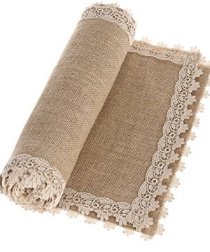 Lings Moment Burlap Hessian Table Runner Jute Rustic Dresser Scarf Summer Fall Wedding Farmhouse Decor Country Table Decorations 12x48 Inch 0 300x360