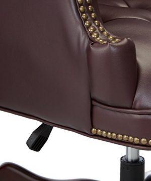 Lorell LLR60603 Vinyl Swivel Executive Chair 30 X 32 X 44 46 Burgundy 0 2 300x360
