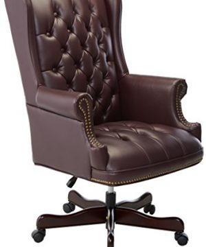 Lorell LLR60603 Vinyl Swivel Executive Chair 30 X 32 X 44 46 Burgundy 0 300x360