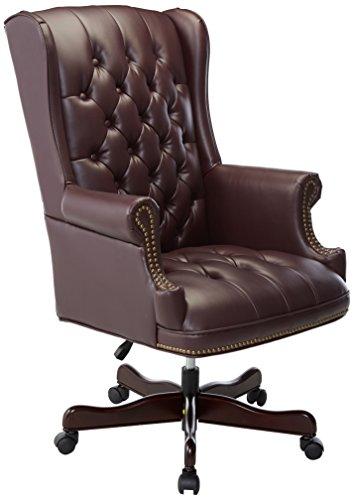 Lorell LLR60603 Vinyl Swivel Executive Chair 30 X 32 X 44 46 Burgundy 0