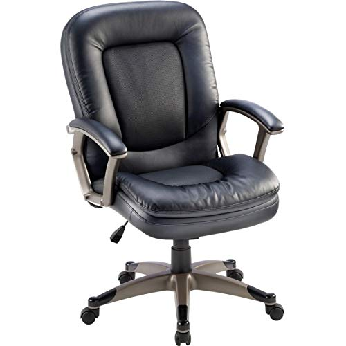 Lorell Mid Back Chair 27 By 32 12 By 43 12 Inch Black 0 1