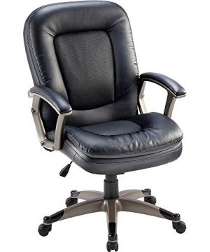 Lorell Mid Back Chair 27 By 32 12 By 43 12 Inch Black 0 300x360