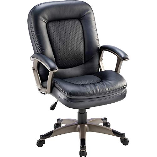 Lorell Mid Back Chair 27 By 32 12 By 43 12 Inch Black 0