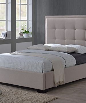 LuXeo Montecito Tufted Upholstered Bed Queen Palazzo MistKhaki 0 300x357