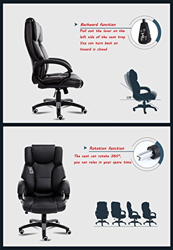 Mei Xu Boss Chair Home Computer Chair Office Chair Reclining Swivel Chair Leisure Chair Multi Color Optional Office Supplies Color WRed Wine 0 3