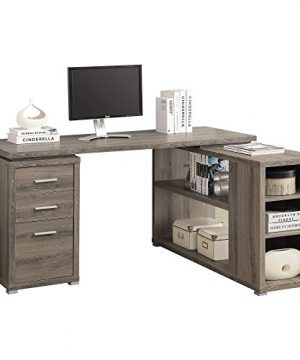 Monarch Specialties Hollow Core Left Or Right Facing Corner Desk Dark Taupe 0 0 300x360