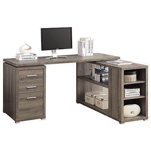 Monarch Specialties Hollow Core Left Or Right Facing Corner Desk Dark Taupe 0 0