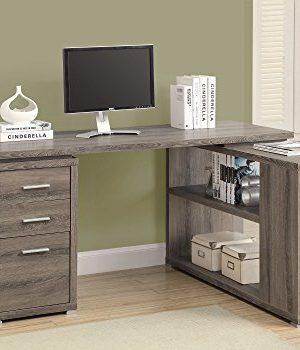 Monarch Specialties Hollow Core Left Or Right Facing Corner Desk Dark Taupe 0 1 300x350