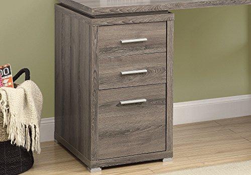 Monarch Specialties Hollow Core Left Or Right Facing Corner Desk Dark Taupe 0 2