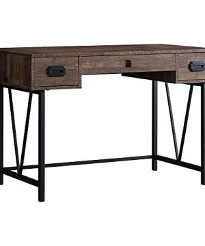 Monarch Specialties Laptop Table With Drawers Industrial Style Metal Legs Computer Desk Home Office 48 L Brown Reclaimed Wood Look 0 1 300x360