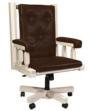 Montana Woodworks Homestead Collection Office Chair Clear Lacquer Finish 0 300x360