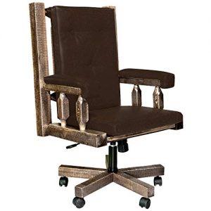 Liberty Furniture Industries Amelia Jr Executive Office Chair W26 X D27 X H42 Medium Brown Farmhouse Goals