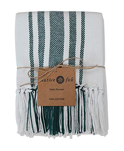 Native Fab Pure Cotton Table Runner Farmhouse 90 Inches Long Wedding Table Runners With Fringes Parties Rustic Bridal Farmhouse Goals