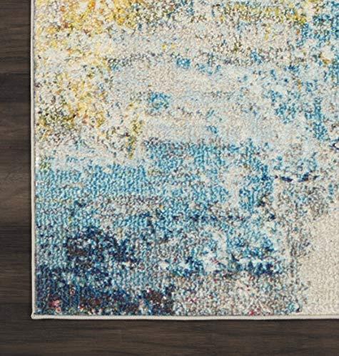 Nourison Celestial Modern Abstract Area Rug 9 X 12 Sealife Multicolor Grey 0 3