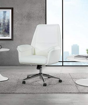 OSP Home Furnishings Glenview Office Chair White 0 300x360
