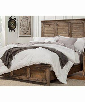 Origins By Alpine Remington Bed Queen Aged Pine 0 300x360