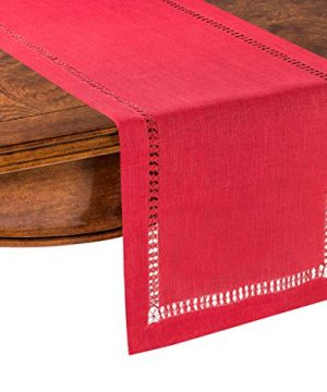 PROVIMO HOME Hemstitched Table Runners 14 X 120 Inch Red 0 0 300x360