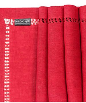 PROVIMO HOME Hemstitched Table Runners 14 X 120 Inch Red 0 1 300x360