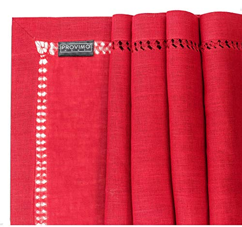 PROVIMO HOME Hemstitched Table Runners 14 X 120 Inch Red 0 1
