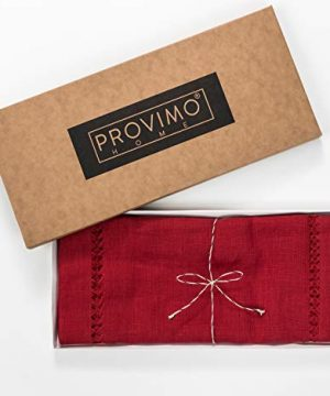 PROVIMO HOME Hemstitched Table Runners 14 X 120 Inch Red 0 4 300x360