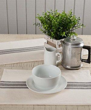 Piper Classics Market Place Gray Grain Sack Stripe Table Runner 13 X 36 Farmhouse Style Grey Cream 0 2 300x360