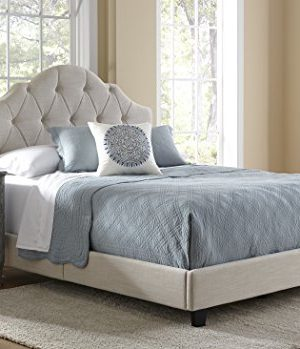 Pulaski Mason All In 1 Fully Upholstery Tuft Saddle Bed Queen 0 300x349