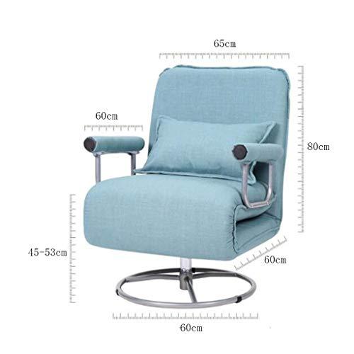 RUNWEI Multifunctional Folding Bed Lunch Break Recliner Lazy Sofa Balcony Chair Color D 0 0