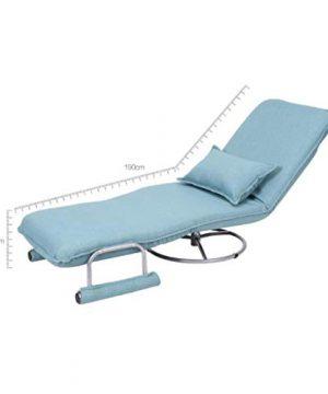 RUNWEI Multifunctional Folding Bed Lunch Break Recliner Lazy Sofa Balcony Chair Color D 0 1 300x360