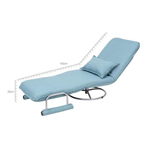 RUNWEI Multifunctional Folding Bed Lunch Break Recliner Lazy Sofa Balcony Chair Color D 0 1