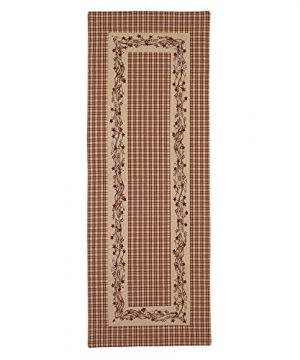 Red Farmhouse Berry Border 13 X 36 Cotton Embroidered Applique Table Runner 0 300x360
