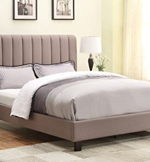 Right2Home Pulaski Robinson Upholstered All In One Bed Queen Sterling Taupe 0 300x324