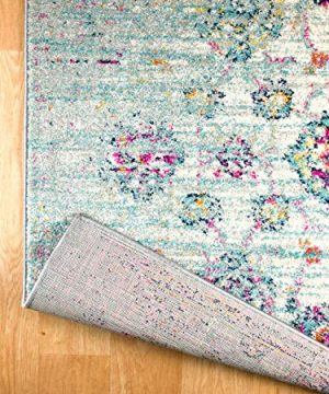 Rugs And Decor Casba Collection Style 507 Area Rug Ivory Multi Colored Farmhouse Distressed Bohemian Chic Large 9x12 0 1 300x360