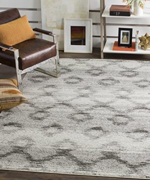 Safavieh Adirondack Collection ADR106P Silver And Charcoal Modern Distressed Area Rug 9 X 12 0 300x360
