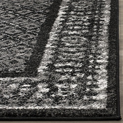 Safavieh Adirondack Collection ADR110A Black And Silver Vintage Distressed Area Rug 9 X 12 0 0