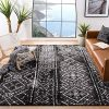 Safavieh Adirondack Collection ADR111C Black And Silver Contemporary Bohemian Distressed Area Rug 9 X 12 0 100x100