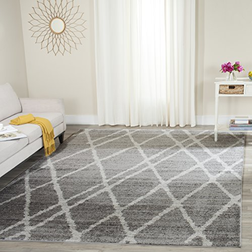 Safavieh Adirondack Collection ADR128B Ivory And Silver Vintage Area Rug 9 X 12 0 0