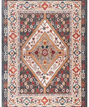 Safavieh Farmhouse Collection FMH812H Charcoal And Ivory 9 X 12 Area Rug 0 0 300x360