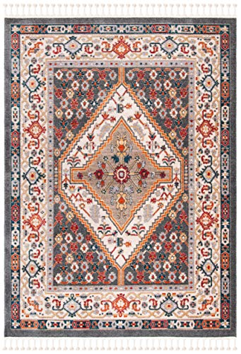 Safavieh Farmhouse Collection FMH812H Charcoal And Ivory 9 X 12 Area Rug 0 0