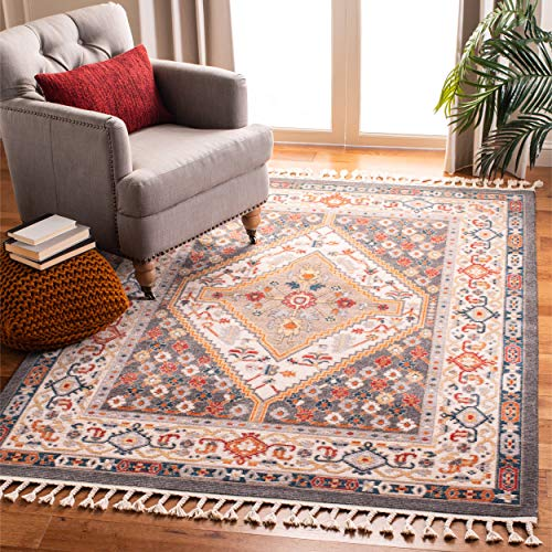 Safavieh Farmhouse Collection FMH812H Charcoal And Ivory 9 X 12 Area Rug 0